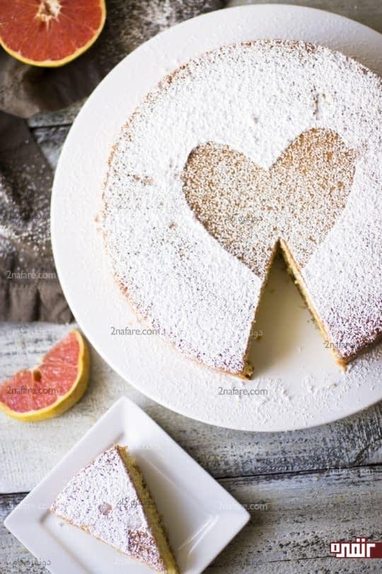 تزیین کیک با پودر قند