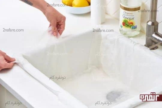 تمیز کردن لکه ها با سرکه