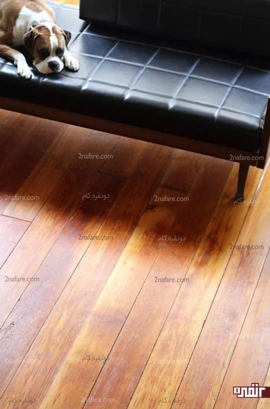 تمیز کردن کفپوش های چوبی با چای سیاه