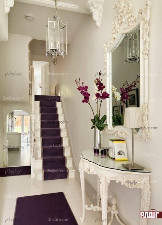 جذب انرژی مثبت با قراردادن آینه و گل طبیعی در راهروی ورودی