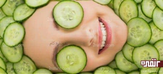درمان پوست خشک با ماسک خیار و روغن نارگیل
