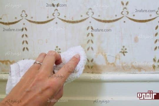 در تمیز کردن کاغذ دیواری ها محتاط باشید