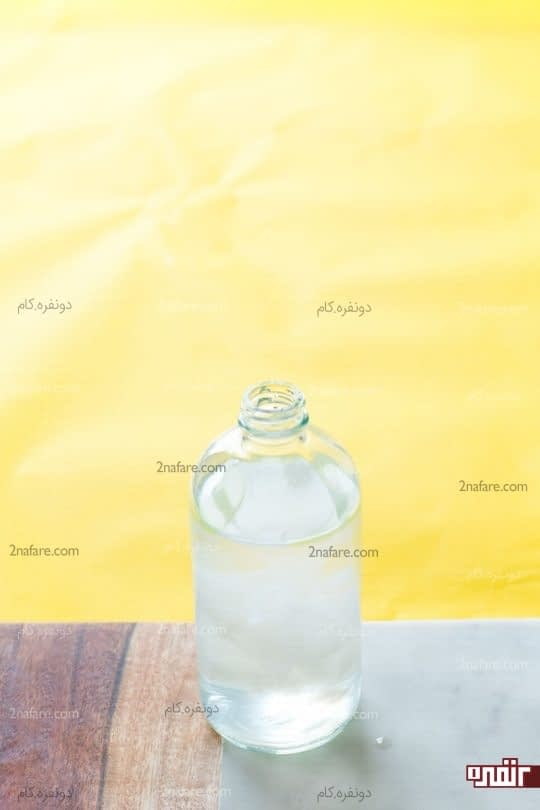 رقیق کردن سرکه با آب و صابون