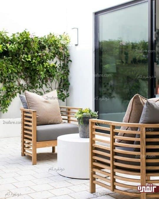 صندلی های چوبی و جذاب