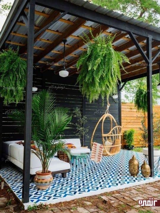 طراحی دکوراسیون حیاط خلوت با چند ایده جذاب و زیبا