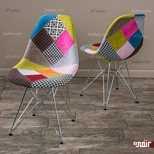 طرحهای رنگی و هندسی متنوع برای روکش صندلی