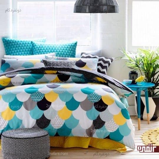 طرحهای متنوع هندسی برای روتختی و منسوجات اتاق خواب
