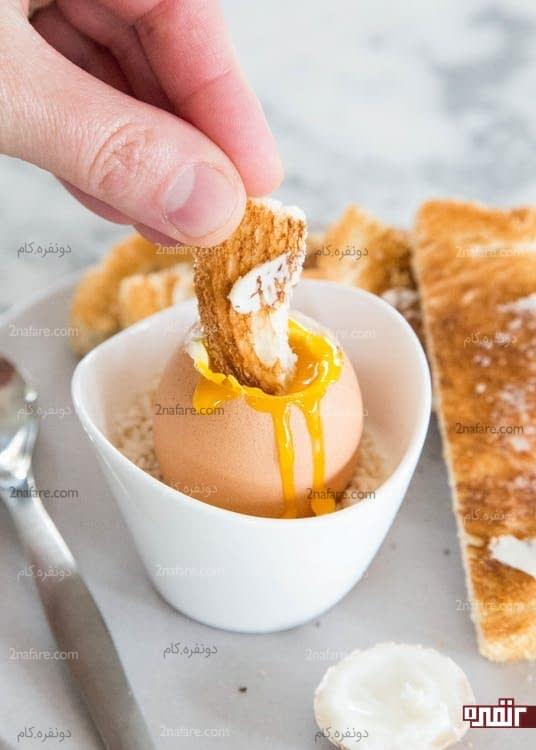 طرز تهیه تخم مرغ عسلی