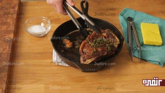 ظروف چدنی رو بلافاصله بعد از استفاده تمیز کنید