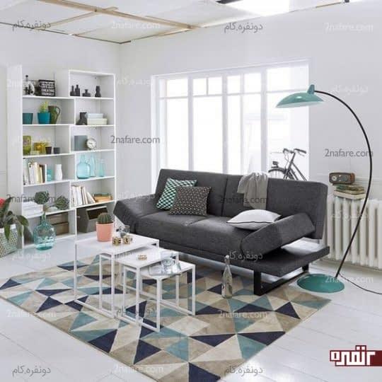 فرش با طرح هندسی
