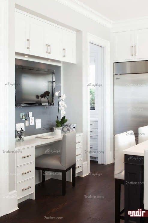 فضای کار آرام و دنج در آشپزخانه