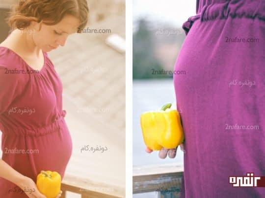فلفل دلمه ای، بهبود بارداری سالم