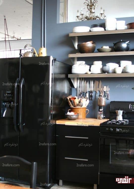 قرار دادن ظروف و وسایل آشپزخانه در قفسه های باز