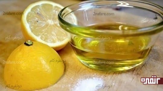 ترکیب آب لیمو و روغن زیتون برای درمان ناخن ها