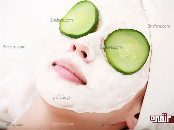 ماسک خیار و روغن نارگیل یزای پوست خشک