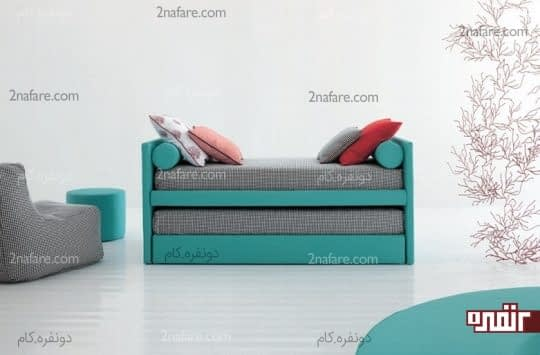 مبلمان چندکاره با قابلیت مبل و تخت خواب کشویی