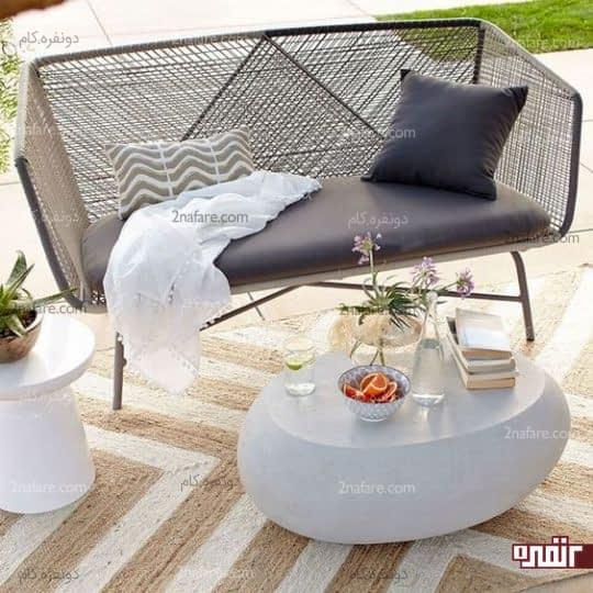 مبل راحتی بافت برای استفاده در حیاط خلوت