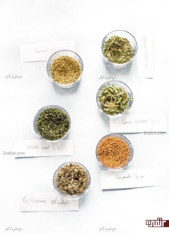 مواد لازم برای تهیه دمنوش گیاهی