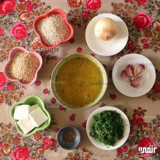 مواد لازم برای تهیه شامی بلغور