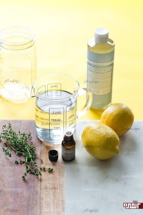 مواد لازم برای ساخت اسپری تمیز کننده خوشبو با سرکه