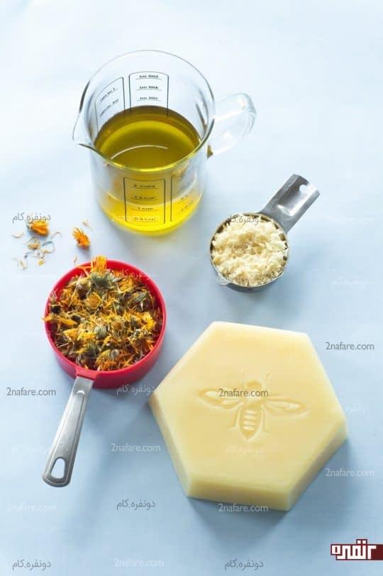 مواد لازم برای ساخت مرطوب کننده نوک سینه