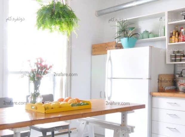 میز کار سفارشی در فضای آشپزخانه