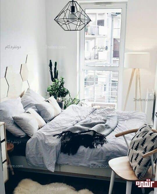 نورپردازی مناسب در اتاق خواب کوچک مهمان