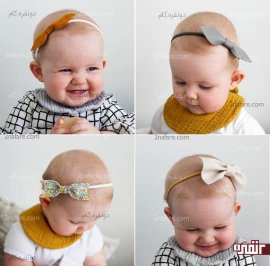 هدبندهای نوزادی ساده و زیبا