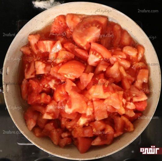 پختن گوجه