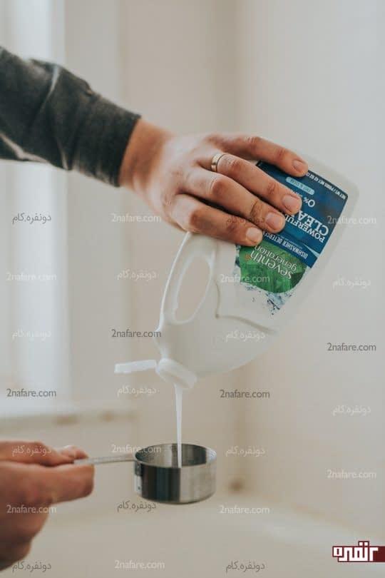 پیمانه کردن مایع ماشین ظرفشویی
