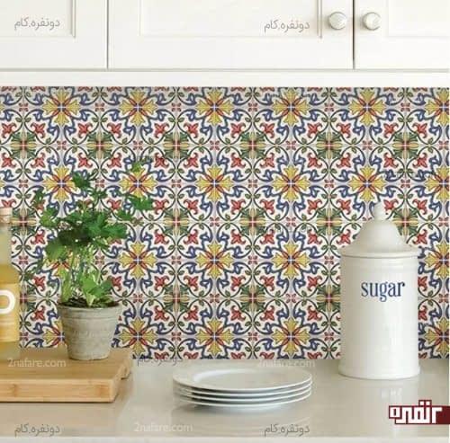 کاشی های رنگارنگ و زیبا در دکوراسیون آشپزخانه