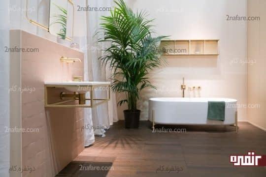 کاشی کاری بخشی از قسمت های حمام