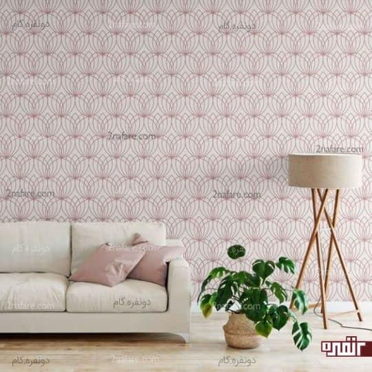 کاغذ دیواری با نقوش هندسی و خوش رنگ