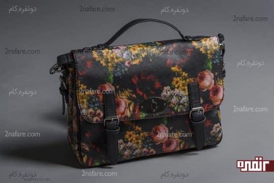 کیف دستی گلدار
