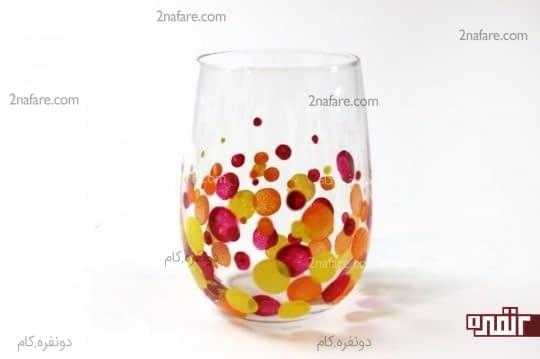گذاشتن نقطه با رنگ های مختلف