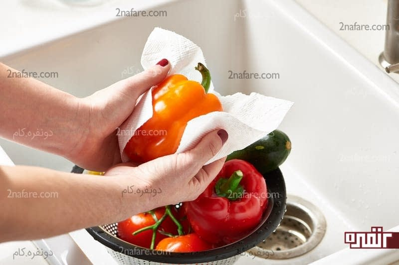 از سفید کننده برای شستن مواد غذایی استفاده نکنید