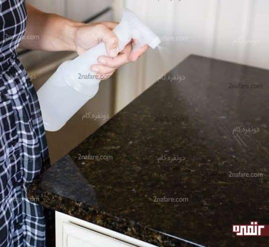 سطوح گرانیتی را با مواد سفید کننده تمیز نکنید