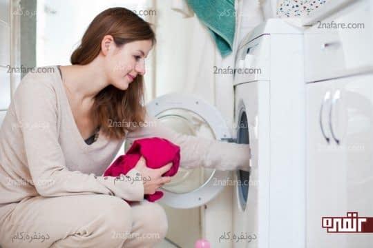 تمیز کردن ماشین لباسشویی با مواد طبیعی