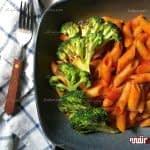 طرز تهیه پاستا بروکلی با سس گوجه مرحله به مرحله