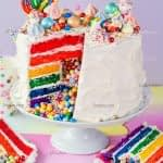 طرز تهیه کیک رنگین کمان مرحله به مرحله