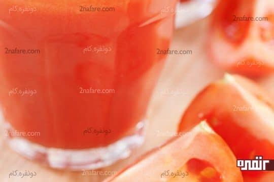آب گوجه فرنگی موثر برای روشنی پوست