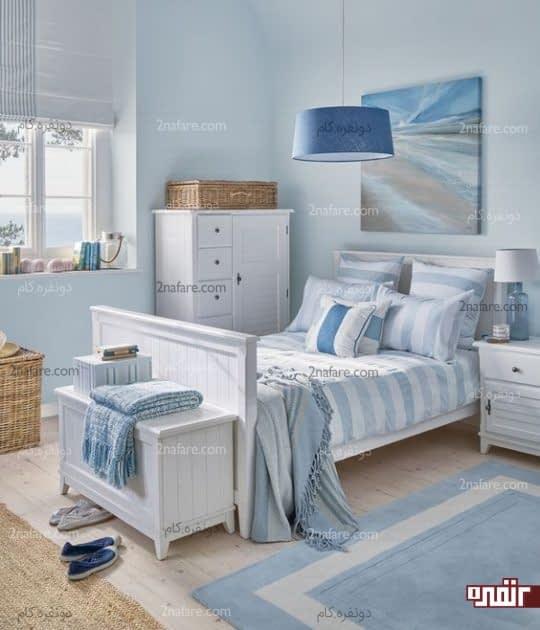 اتاق خواب با دکوراسیون ساحلی
