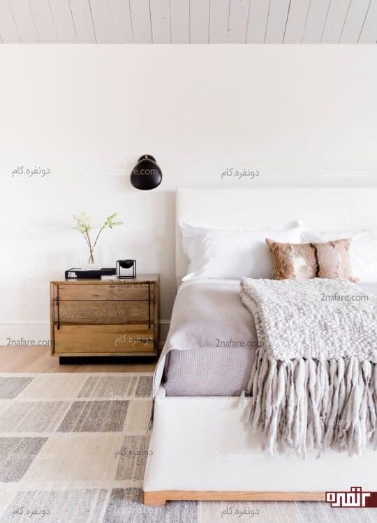 اتاق خواب دنج و روشن با فرش خنثی