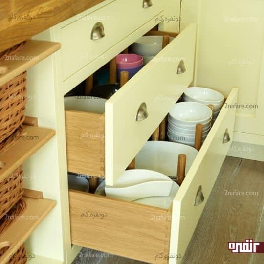 استفاده از تقسیم کننده های کشویی برای ایجاد فضای بیشتر