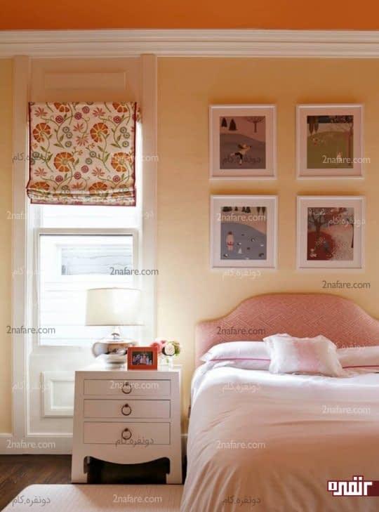 استفاده از رنگ های مکمل در دکوراسیون داخلی اتاق خواب