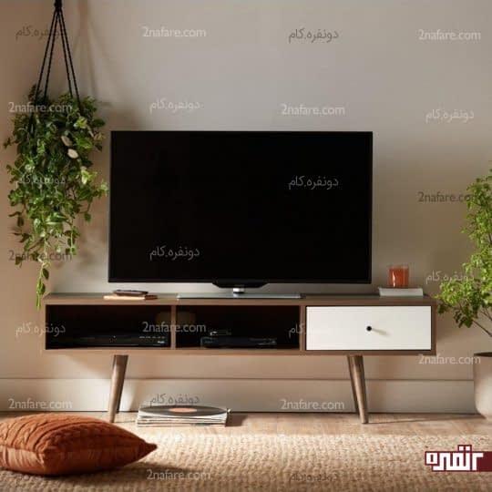 استفاده از میز تلویزیون در دکور اتاق نشیمن