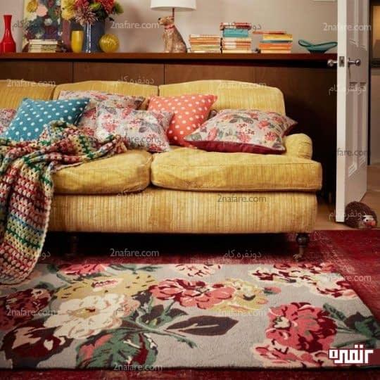 طراحی دکور اتاق نشیمن به سبک تابستانی