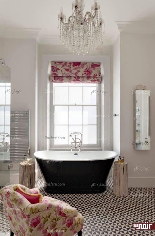 استفاده از پارچه ی گلدار برای پرده و پوشش مبلمان