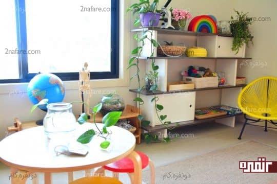 استفاده از گیاهان در دکوراسیون اتاق کودک