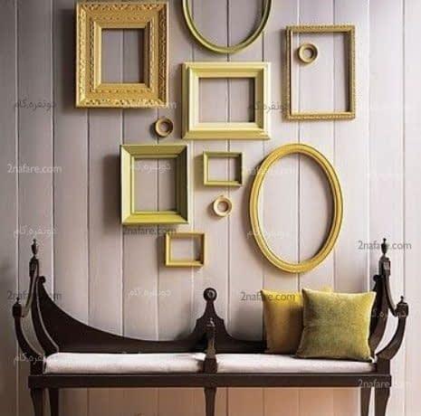 افزودن رنگ به دکوراسیون داخلی با رنگ آمیزی قاب های خالی